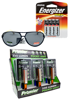 Lighters, Batteries Flashlights and Glasses